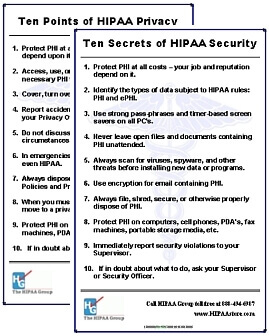 HIPAA Privacy & Security Posters (Set of 2)