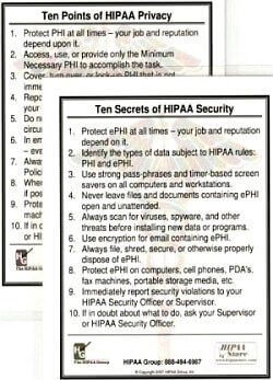 HIPAA Awareness Cards (25-pack)